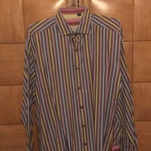 Robert Graham men's long sleeve shirt 2XL